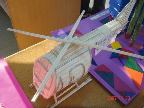 小学生 木条模型飞机