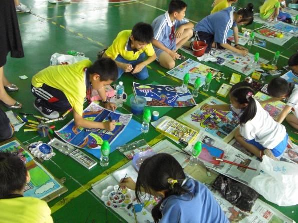 六一儿童节   石碣:举办2008年石碣镇庆祝   图画作品   六一