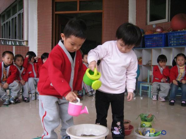塘厦:塘厦中心幼儿园团支部植树节活动