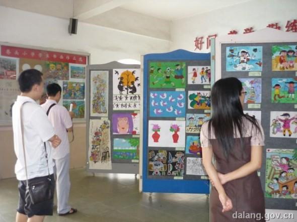大朗:巷头小学举办师生美术作品展