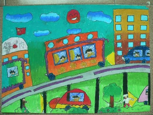 东莞:沙田:东方明珠学校团委举行中学生现场书法,国画展示活动