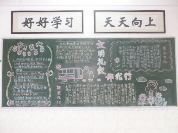 茶山第三小学开展 五月专题 黑板报评比活动