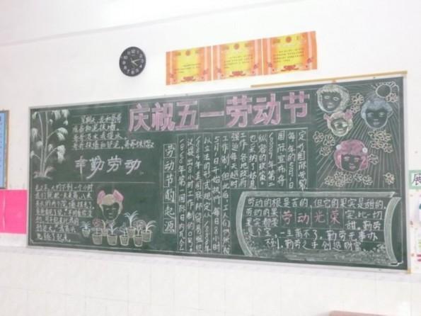 第三小学开展 五月专题 黑板报评比活动
