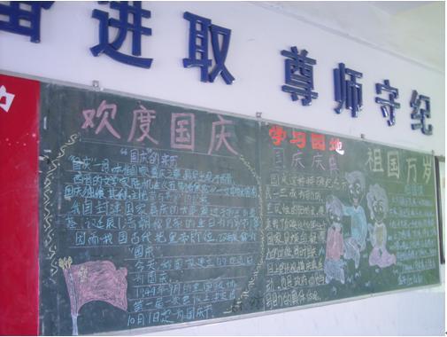 小学国庆节黑板报设计