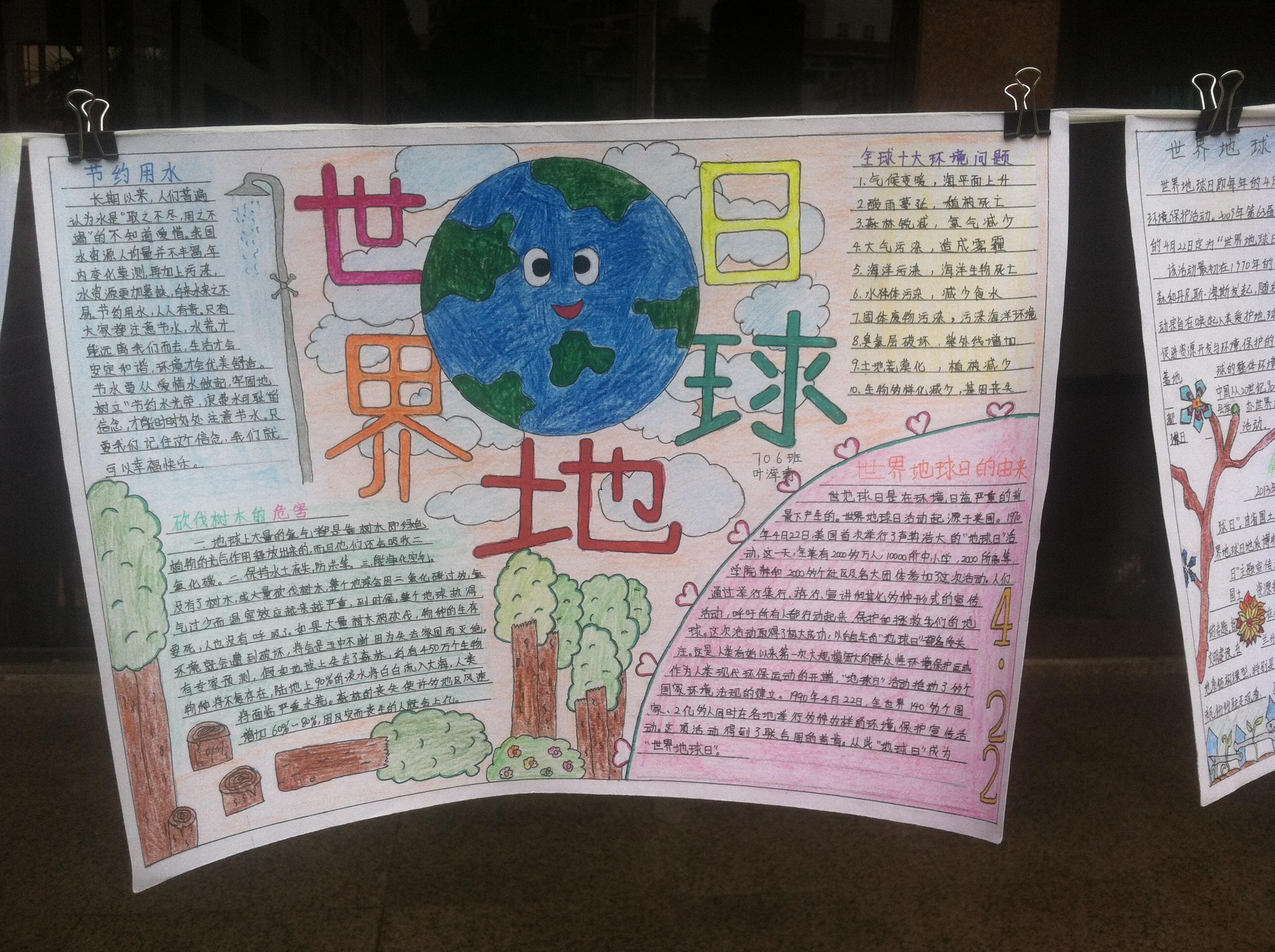 保护地球手抄报