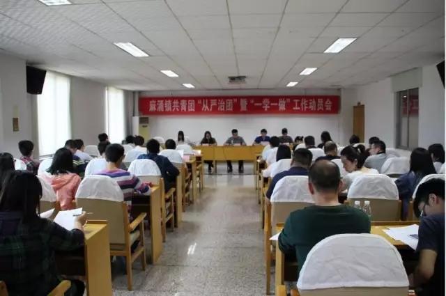 """首先林春权同志向学校,村(社区)团干部介绍了""""从严治团""""和""""一学一做"""""""